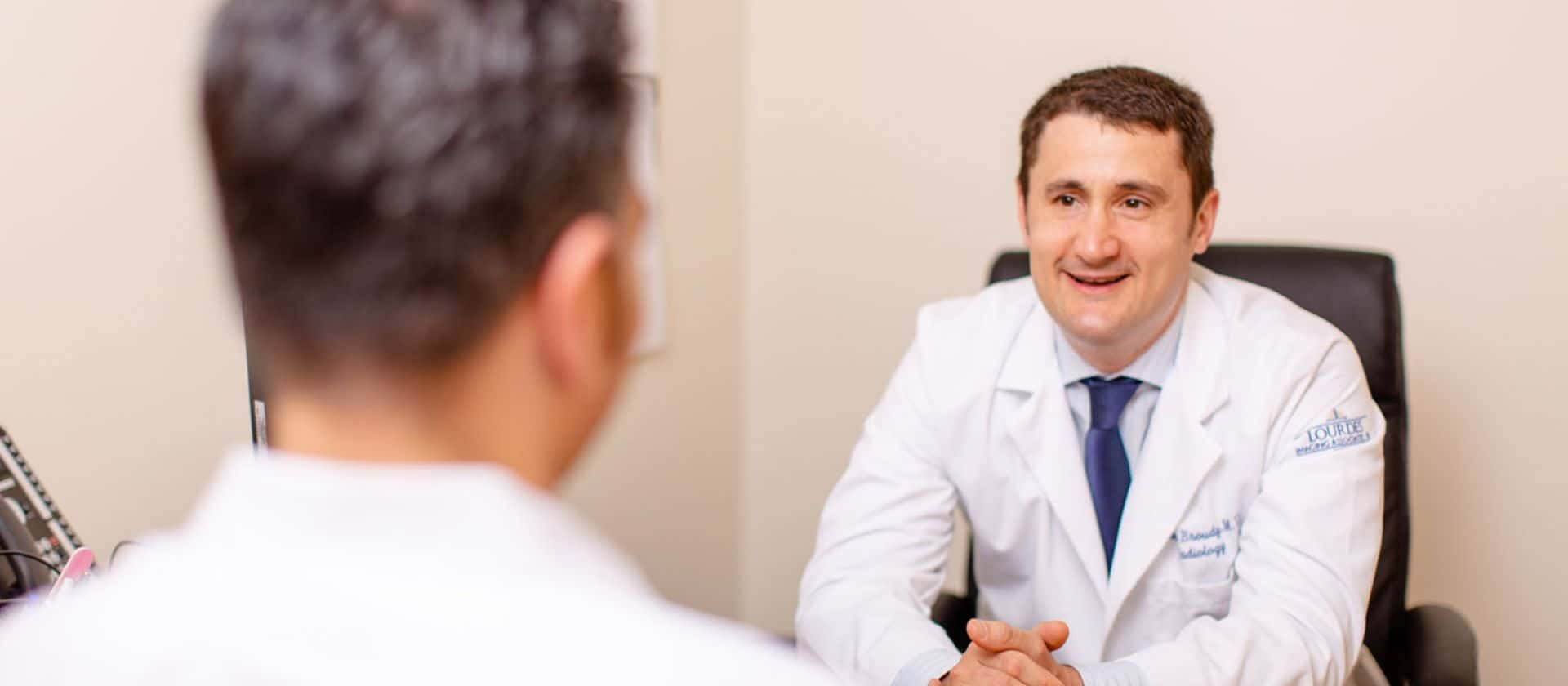 Doctor having a conversation with patient